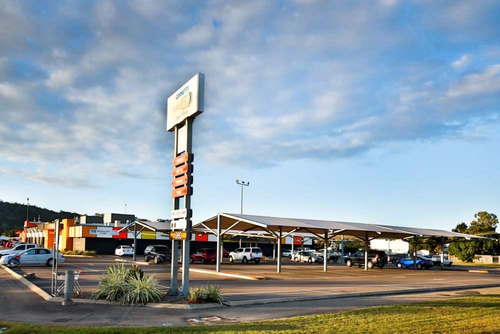 Shopping Centre Car Park & Sign